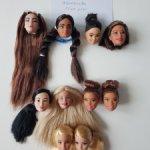 Оригинальные головы Барби
