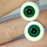 Стеклянные зеленые глаза 16 мм