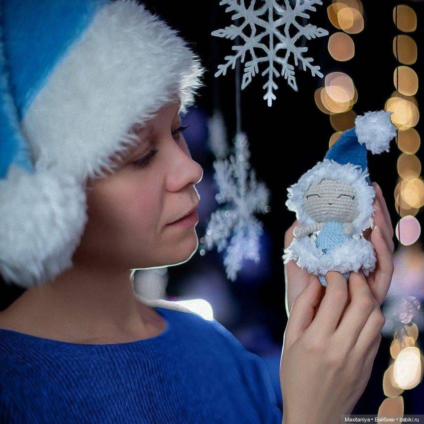 Куколка-амигуруми Зимушка