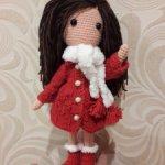 куколка в пальто 25см