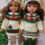 Вязаные наряды для кукол 35см