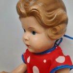 Винтажная  кукла  из тортулона, Германия