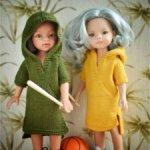 """PDF мастер-класс платье """"Маленькая разбойница"""" для кукол Paola Reina (32-34 см)"""