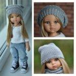 """Мастер-класс по вязанию """"Три любимых шапки"""" для кукол Paola Reina (32-34 см)"""