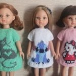 Веселенькие платишки оверсайз на куклолк 30-35 см