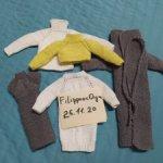 Лот вязанной одежды для барби новое