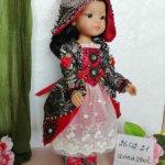 Карнавальный костюм с красными розами для Паолы