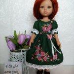 Платье для Паола Рейна с вышивкой