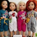 Комбезик с вышивкой для куклы
