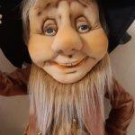 Авторская кукла ручной работы веселый гном