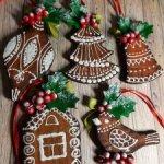 Набор печенек на новогоднюю ёлку.