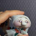 Бабулька ,текстильный сувенир.