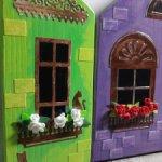 Деревянный городок(набор домиков 4 шт)