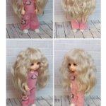 Продам паричок из козочки для Lati и других куколок с обхватом 14 см.