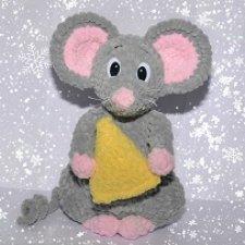 Авторская плюшевая мышка Люляша! Подойдет даже для совсем маленьких деток!:)