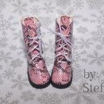 Высокие ботиночки на шнурках для кукол Paola Reina