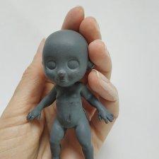 Мастер-модель для силиконового малыша на каркасе