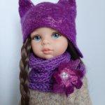 Комплект шапка и шарф для кукол паола рейна