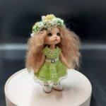 Платье для кукол бжд пукифи(pukifee), лати еллоу(Lati Yellow ) ,кукол типа баболи.
