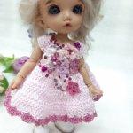 Платье с бусинами для бжд кукол