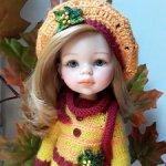 Ооак куклы Паола Рейна - Девочка-осень.