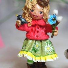Ватная игрушка Весняшка