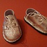 Ботиночки из натуральной серебристый кожи для паола рейна.