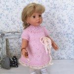 Платье вязаное  для куколки Готс (Gotz)