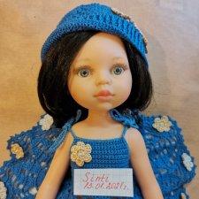 Для куклы Паола Рейна, 32-34 см. Связано крючком по МК Оксаны Лифенко.