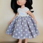Платье, подъюбник для куклы Паола Рейна ростом 32-34 см