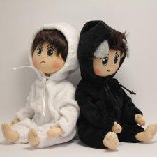 Образы любимых китайских актеров в авторских куколках