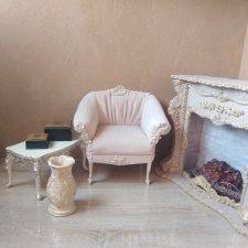 Кресло для кукол ренессанс