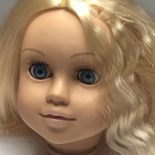 Голова виниловая на куклу 45 см обхват  31-32 см