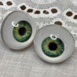 Живые глазки 20 мм для готц зелено желтые