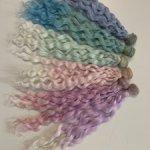 Трессы цветные 30 см синтетика