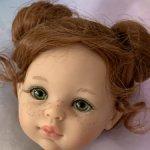 Голова куколки Паола рейна Кристи с буклями живые глазки