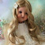 Парик для антикварной куклы на объем 36 см