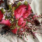 Белая вискоза с великолепными цветами
