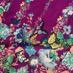 Отрез ткани с бабочками