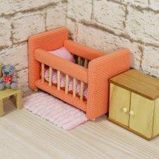 Кукольная мебель ручной работы из массива Сосны.