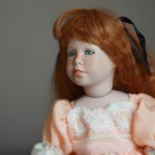 Франческа. Примеряя чужое платье. Фарфоровая кукла Полли от Сьюзан Крей