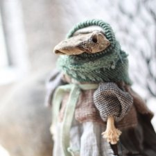 Старушка Лягушка. Авторская кукла