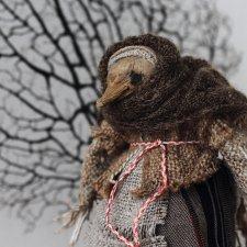 """Старуха Ворона из серии """"Птичьи старухи"""". Авторская кукла"""