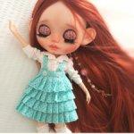 Blythe custom doll ooak.