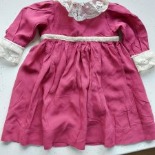 Винтажное платье для антикварной куклы.