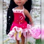 """Мастер-класс """"Принцессы и Феи Дисней: Розетта"""" для кукол Paola Reina спицами"""