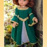 """Мастер-класс """"Принцессы и Феи Дисней: Мерида"""" для кукол Paola Reina крючком"""