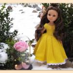 """Мастер-класс """"Принцессы и Феи Дисней: Белль"""" для кукол Paola Reina спицами"""