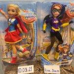 Сет DC Superhero girl Супергёрл и Бэтгёрл
