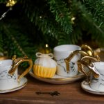 Комплекты из чашки, тарелочки и капкейка для кукол 40-50 см